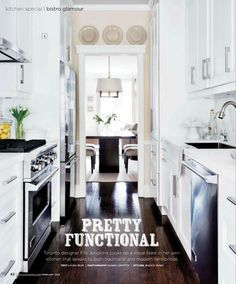 Depending on the structure of your house, galley kitchen is the best option before you think about remodeling. Today we are showcasing 20 Best Small Galley Kitchen Ideas. The galley kitchens found in many homes are only replicas of the small but efficient Galley Kitchen Design, Home Kitchens, Kitchen Design Small, Kitchen Design, Sweet Home, Kitchen Interior, Kitchen Layout, Galley Kitchen, Kitchen Styling