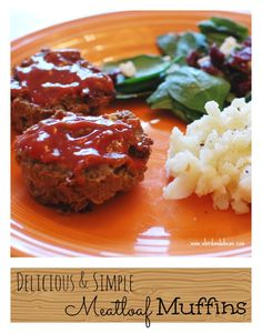 delicious and easy meatloaf muffins.