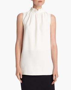 """Silk Double Georgette Percy Blouse 