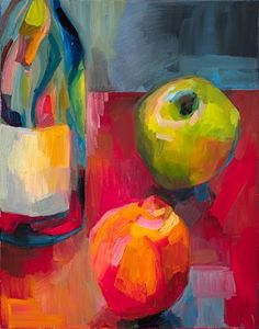 Apple vs. orange - Original Fine Art for Sale - © Lena Levin