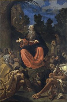 The Sermon of Saint Anthony Abbot to the Hermits (Saint Anthony of Egypt Preaching to the Hermits) / La predicación de San Antonio Abad a los ermitaños / La predica di Sant'Antonio Abate agli eremiti // 1615 // Ludovico Carracci // Pinacoteca di Brera