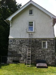 Exterior House Renovation // Ardmore, PA // Before // Siding and Windows