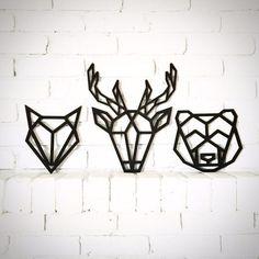 be8c979f01 Laser cut woodland heads / geometric / deer / fox / bear / Laser Cutter  Projects
