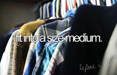 fit into a size medium