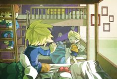 Toon Link, Villager, Lucas and Ness Morning by Creamsouffle on DeviantArt