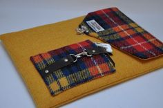 HARRIS TWEED fabric MacBook Laptop case - Highland