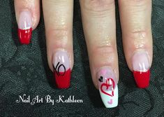 "22 Likes, 1 Comments - Nail Art By Kathleen (@nailartbykathleen) on Instagram: ""Valentine's Day Nails #nails #nailart #naildesign #valentinesday #valentinenails #notd #nails2018…"""