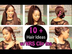 Terrific 3 Ways To Wear Blown Straight Clip Ins Big Chop Hair Hairstyle Inspiration Daily Dogsangcom