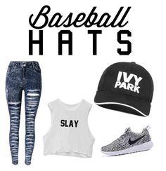 """Beyonce #baseballhats"" by ashantihearns on Polyvore featuring Ivy Park, baseballcap and baseballhats"
