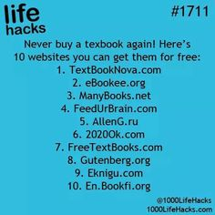 Life hacks : 10 sites to download free textbooks