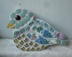 Mosaic Bird Bath Cherry Blossom by LotusFlowerMosaics on Etsy Mosaic Art Projects, Craft Projects, Mosaic Ideas, Craft Ideas, Mosaic Animals, Mosaic Birds, Mosaic Birdbath, Mosaic Garden, Mosaic Rocks