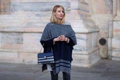 Black, blue & grey  Milan