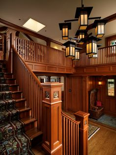 Winner of 9 Gold and 2 Silver CARE Awards in One of Victoria's most well k. - Winner of 9 Gold and 2 Silver CARE Awards in One of Victoria's most well known custom homes - Craftsman Style Interiors, Craftsman Interior, Craftsman Style Homes, Craftsman Bungalows, Style At Home, Craftsman Staircase, Home Architecture Styles, Arts And Crafts Interiors, Arts And Crafts Furniture