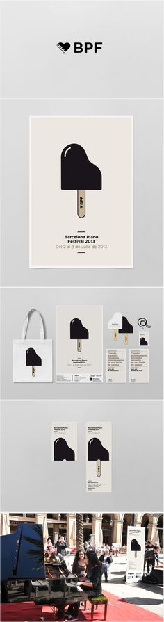 Barcelona Piano Festival • adorable and cheeky popsicle logo