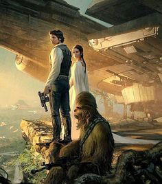 Falcon Sunset || Unknown Artist #starwars#swplanet#theforceawakens#art#hansolo ☆☆☆