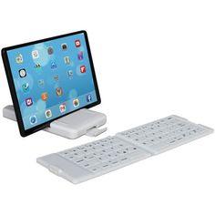 IWERKZ 44672 Waterproof Bluetooth(R) Folding Keyboard (White)