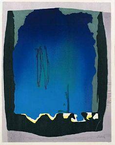 Helen Frankenthaler, Freefall, 1993. Woodcut Printed in Colors, on Hand-Dyed TGL Handmade Paper. 196.8 x 153.4 cm