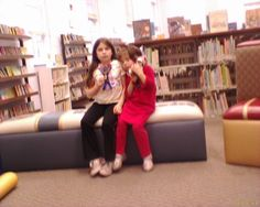 #FlatChuckE After a short rest, wardrobe change, and after homework is done we head out to the library.