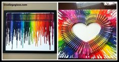 DIY Melted Crayon Canvases Tutorial Melted Crayon Canvas, Old Towels, Melting Crayons, Diy Canvas, Diy Tutorial, Favorite Color, Frame, Creative, Canvases