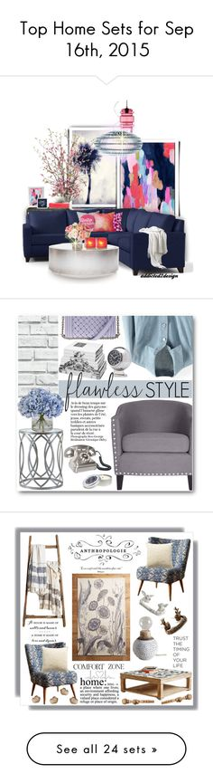 """""""Top Home Sets for Sep 16th, 2015"""" by polyvore ❤ liked on Polyvore featuring interior, interiors, interior design, home, home decor, interior decorating, Universal Lighting and Decor, Leftbank Art, New Growth Designs and Dot & Bo"""