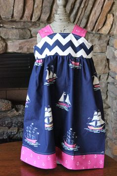 Sail Away with Me Knot DressAvailable Sizes 510 by gloriousgoose, $35.00