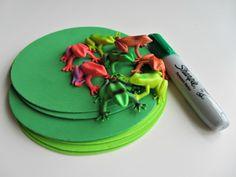 subtract activ, lili pad, pad math, preschool subtraction, autism math activities