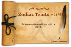 An Aquarius is an odd one out in a crowd.