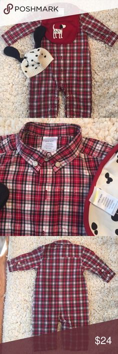 Selling this Baby Boy Plaid Button Down Long Sleeve One Piece on Poshmark! My username is: abelfry. #shopmycloset #poshmark #fashion #shopping #style #forsale #Gymboree #Other