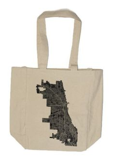 Chicago Map Tote Bag by VeniCity on Etsy