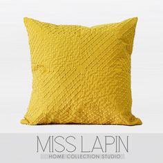 热卖北欧宜家沙发布艺靠包抱枕床上用品芥末黄菱形格纯色几何图案