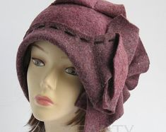 Items similar to Winter Hats Women Plus size clothing Felted Wool Cloche Hat Handmade Size Plus size Hat Women's Beret Hat Christmas Gift Fascinator on Etsy Best Plus Size Clothing, Plus Size Dresses, Plus Size Outfits, Hat Patterns To Sew, Crochet Toddler, Clothing Hacks, Boho Clothing, Winter Hats For Women, Cloche Hat
