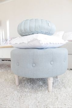 .I love ottomans, foot props and stools.