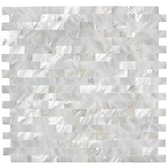 $24.95 sf.  White Brick Groutless Pearl Shell Tile