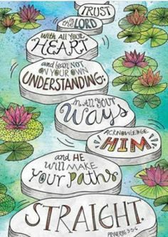 Motivate and inspire with the powerful message on this Scripture-based poster! This Proverbs Rejoice Inspire U poster features a Doodle Art, nature-inspired lily pad design. Trust in the Lord wi Scripture Art, Bible Art, Scripture Images, Bible Verses Quotes, Bible Scriptures, Art Quotes, Lettering, Image Jesus, Creative Teaching Press