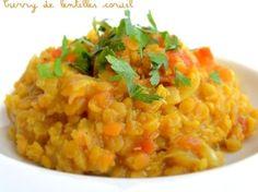 Curry de lentilles corail (Dahl)