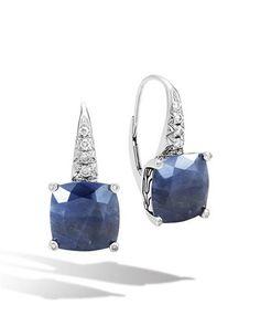 Y34XU John Hardy 10mm Batu Classic Chain Drop Earrings with Diamonds
