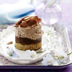 Cheesecake med chokolade