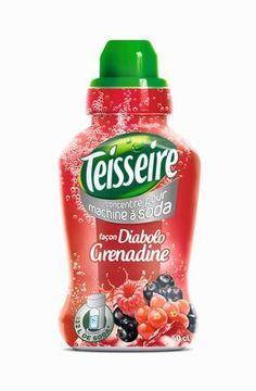 Sirop pour machines à soda, Teisseire, mars 2015 - 6 parfums, PVC 4.99€ les 600 ml