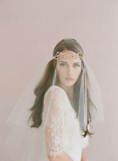 Triple crystal loops headband - Style # 404