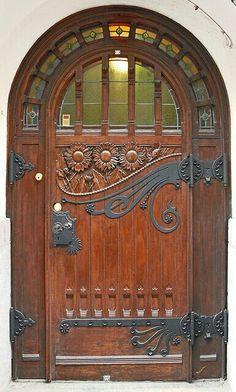 Wooden old vintage door