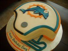 Miami Dolphins Cake