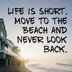Image may contain: ocean, sky, text, outdoor and water Great Quotes, Quotes To Live By, Me Quotes, Inspirational Quotes, Beach Quotes And Sayings, Beach Life Quotes, Summer Quotes, I Love The Beach, Life Is Short