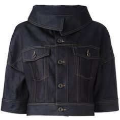 Now $290 - Shop this and similar Diesel Black Gold jackets - Blue cotton three quarters cropped denim jacket from Diesel Black Gold. Designer colour: 01. Design...