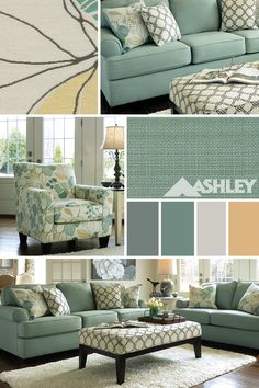 Daydreaming..No, reality for me.. this is my livingroom color palette. Love the new greenish blue color's more color options to go with than what is shown. I love this though!!!