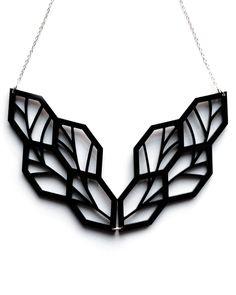 Black Leaf Necklace - JewelMint