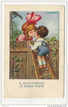 a bertiglia baiser illustrateur - Delcampe.fr