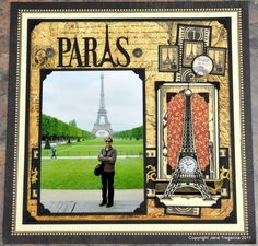 Everyone needs a day in Paris, @Jane Tregenza brought Paris to you with her amazing layouts! You can see the rest of her designs on our blog and layouts board!
