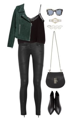 A fashion look from June 2015 featuring crop tops, leather moto jacket and super skinny jeans. Browse and shop related looks. Hot Outfits, Stylish Outfits, Fashion Outfits, College Wardrobe, New Wardrobe, Weekly Outfits, City Style, Super Skinny Jeans, Polyvore Outfits
