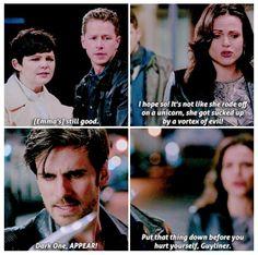 Regina Mills. Never one to sugarcoat things. #OnceUponATime #DarkSwan