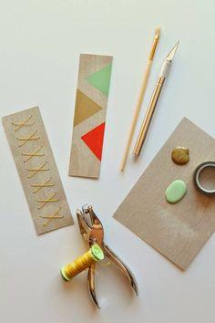 poppy haus: Wooden Bookmarks